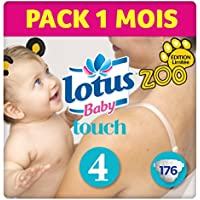 Lotus Baby Touch - Couche Taille 4 (7-14 kg)  Pack 1 mois (176 couches )