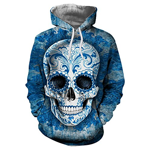 Calaveras de azúcar sudaderas 3D hombres sudaderas con capucha marca impresa Envío Tracksuits Unisex Pullover 6XL moda casual chaquetas masculinas,LMS256,XXL