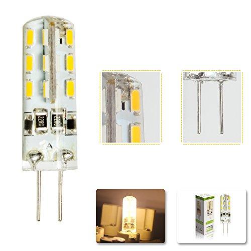 G4 LED Lamper 2 Watt 12V DC Warmweiß aus Silikon (Silica Gel) Lampe Leuchte Leuchtmittel 200LM