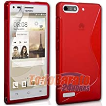 Funda GEL SLine S Line ROJO Huawei Ascend G6 4G Orange Gova