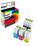 Koala 10 Druckerpatronen kompatibel für Epson T1281 T1282 T1283 T1284 für Epson Stylus S22 SX125 SX130 SX230 SX235W SX420W SX425W SX430W SX435W SX438W 4*BK 2*C 2*M 2*Y