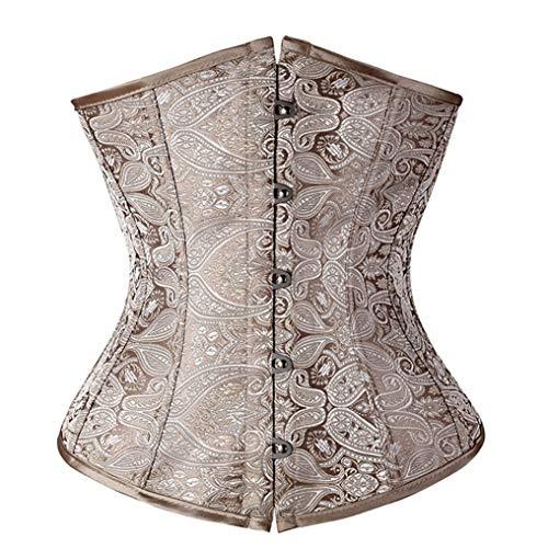 Low Back Korsett (gounure Damen Satin Lace Up Ohne Knochen Dessous Braut Unterbrust Korsett Top Low Back)