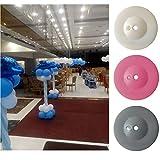 GEZICHTA 21cm aufrecht Ballon Boden blastic Ballon Spalte Boden Wasser aufblasbar Hochzeit Dekorationen Event Party Supplies Garten Dekorationen, Weiß
