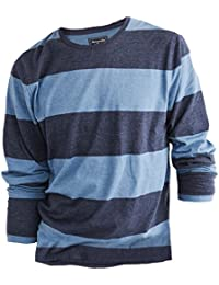 Abercrombie - Homme - Striped Tee Shirt Top T-shirt - Manche Longue