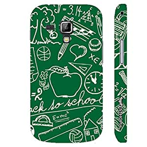 Samsung Galaxy Duos 7562 Blackboard designer mobile hard shell case by Enthopia