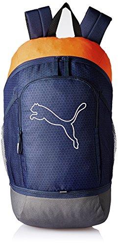 Puma Unisex Echo Backpack Rucksack peacoat-Vibrant orange