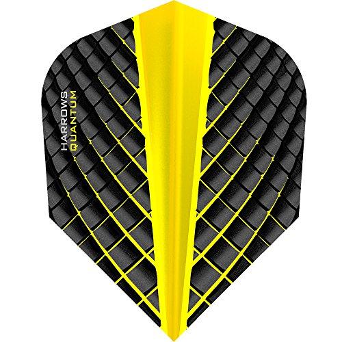 *HARROWS Quantum Dart Flights, 100Micron–STD–3D Effekt–Gelb–10Sets (30)*