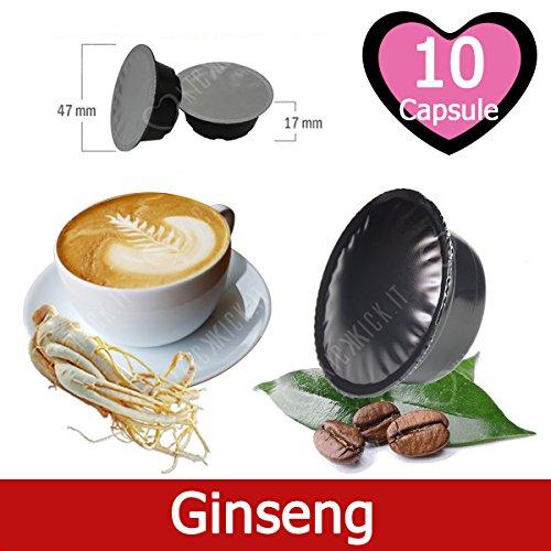 10 Capsule Caffè Solubile al Ginseng Compatibili Lavazza A Modo Mio