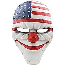 CCOWAY Halloween Máscara, Payday 2 Tema Terror Cosplay Party Máscara (Dallas)