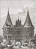Poster 100 x 130 cm: Das Holstentor, Lübeck von Ken