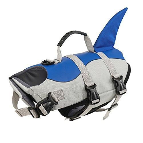 Hundeschwimmweste Rettungsweste Schwimmtraining für Hunde, Wassersport, Schwimmweste Sicherheitsweste Weste Meerjungfrau grün,S