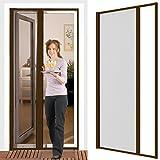 Insektenschutzrollo für Türen 125 x 220 cm mit Alurahmen in