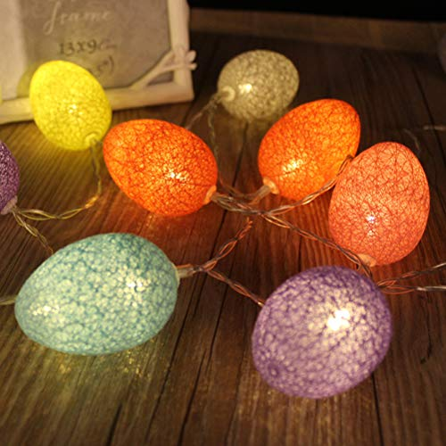 ation Lights Colorful Egg Easter Lights String Battery-operated 5.9ft 10 LEDs Lights Decorations for Easter Show Patio Fence Deck Balcony Camping ()