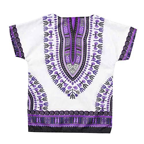 i-uend Männliche und weibliche Freizeit Charakteristisch Ärmelloses T-Shirt-Oberteil im afrikanischen ()
