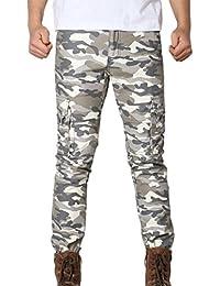 MOIKA Herren Hose Cargo Jogging Pants, Kampfhose Sport Arbeit Casual Armee  Kampf Feldhose Multi Pockets aa0badf9a9