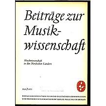 Das musikwissenschaftliche Studium in Dänemark seit 1870, in: BEITRÄGE ZUR MUSIKWISSENSCHAFT, 2/1972.