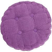 1Pc 40 * 40cm Rotondo Tatami Ammortizzatore Posteriore Più Spessa Morbido Velluto A Coste Cotone Lavabile Home Decor (Porpora) - Posteriore Ammortizzatori Ammortizzatori