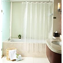 LikeYou Baño Stall tamaño Ducha Cortina Liner Resistente al agua y el moho, 100% Eco-friendly EVA cortina de baño con 3D Cube único diseño Pttern para baño (200x220cm)