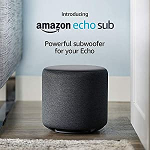 Echo Sub - Powerful subwoofer for your Echo – requires compatible Echo device 2