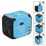 Voyage Adaptateur International avec Double Chargeur USB US / EU / UK / AUS Universel...