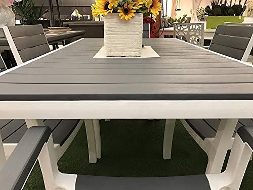 Set tavolo e 6 poltrone HARMONY in resina KETER con stampo finto legno - 4