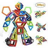 infinitoo Magnetic Building Blocks 109 PCS Magnetic Tiles Set for Kids Toddlers Over 3 Years Old Toys | STEM Building Block Educational Construction Rainbow Kit| 3D Magnetic Toys for Boys Girls