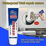 2 Stück Wandreparaturcreme + Schaber - Magische weiße Latexfarbe Wandreparaturcreme Wandrissreparatursalbe Wasserdicht