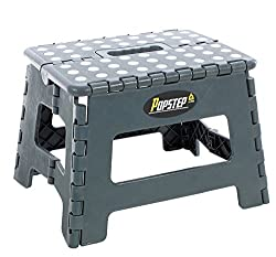 PopStep Folding Step Stool 9 inches 22cm Anti Slip Top. Compact Folding Stool Easy To Store, Perfect Kitchen Step or Bathroom Step