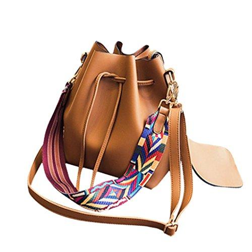 bolsos de las mujeres, FEITONG Nuevo bolso de la mujer Bolsa de hombro Mensajero del Hobo del monedero del bolso de la taleguilla (marrón)