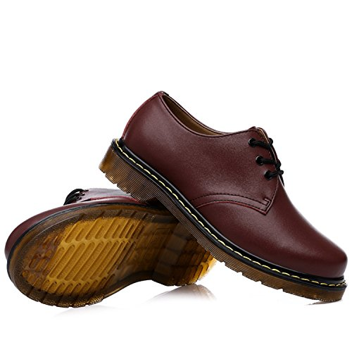 Miyoopark , Chaussures de ville à lacets pour homme Bordeaux