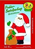 Fischer Fensterbild Probierbastelpackung WEIHNACHTSMANN / Bastelpackung / 12x14 cm / zum Selberbasteln / Basteln mit Papier und Pappe zu Weihnachten