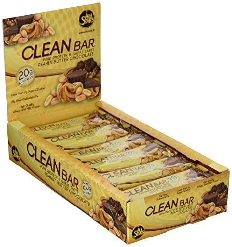 All Stars Clean Bar, Peanut Butter Chocolate, 18er Pack (18 x 60 g) - High Protein Bar Chocolate Peanut Butter