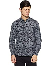Pepe Jeans Men's Printed Slim Fit Casual Shirt