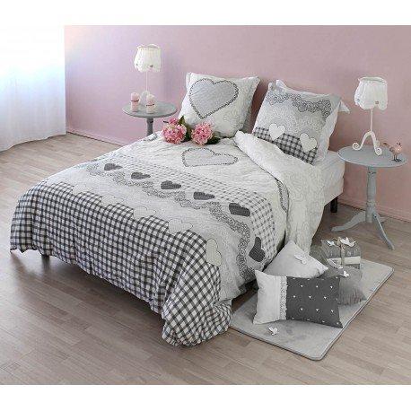 Enjoy Home L208PARUR240220 Parure Housse de Couette avec 2 Taies Romance Coton Imprimé 240 x 220 cm