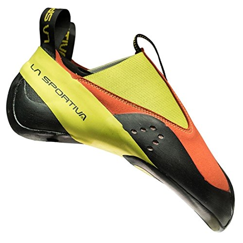 La Sportiva Unisex-Kinder 20c304702 Kletterschuhe, Mehrfarbig (Flame/Sulphur 000), 35.5 EU