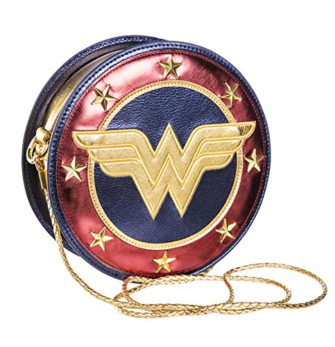 TruffleShuffle Metallische Wonder Woman Shield Cross Body Bag (Tasche Wonder Woman)