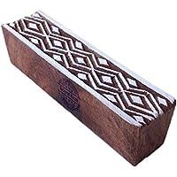 Royal Kraft Asiatisch Geometrisch Gestalten Bordüre Holz Stempel Druck Block