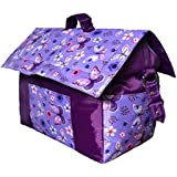 Baby Bag - House Shaped - Blue And Purple