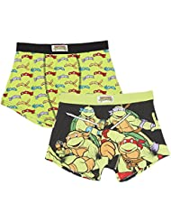 Teenage Mutant Ninja Turtles Tmnt fantaisie Boxer pour Homme Lot de 2 Boxers pour homme Lot de 2