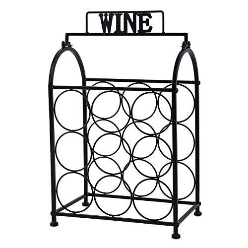 okdeals Weinregal für Tisch 9 Bottles Tabletop Wine Rack -