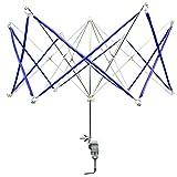 Filo metallico avvolgitore veloce lana manuale filato filo avvolgitore porta portatile manovella operata a maglia ombrello da yunhigh - azzurro