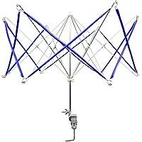 Enrollador de hilo de metal rápido de lana manual de lana pelota de la devanadera portátiles mano operado paraguas de tejer por yunhigh - azul