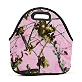 Dozili Camouflage Hot Pink Realtree Camo Large & Thick Neopren Lunch-Taschen Isolierte Lunch-Taschen...