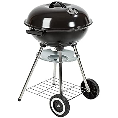 TecTake 3in1 BBQ Holzkohlegrill Barbecue Smoker Räuchertonne Räuchergrill mit Thermometer -diverse Modelle-