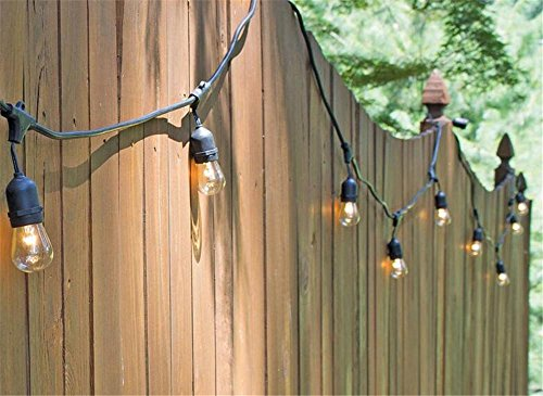 ZHLIZH14,6 M 15LED grado commerciale resistente alle intemperie Outdoor String luci Vintage Edition esterna resistente alle intemperie - Camera Pull String