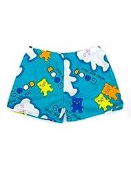 Garçons Maillots Sport Shorts Plage Shorts Swim Trunks Ours, bleu clair