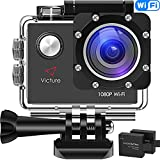 Victure Action Kamera WIFI Full HD 1080P Helmkamera Motorrad Sports Action Camera Cam 2.0 Zoll...