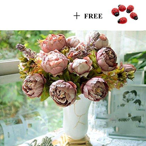 Ruichy 10pcs Calla Lily Bridal Wedding Party decoración ramo látex Touch flores artificiales ramo rosa según imagen