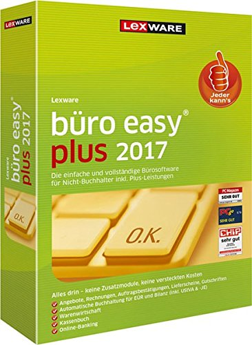Produktbild Lexware büro easy plus 2017 Jahresversion (365-Tage)