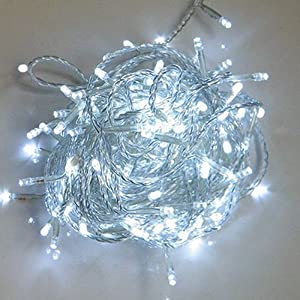 WATERPROOF 100 Cool White LED Fairy Christmas Halloween Wedding Party Outdoor Lights 12 Metre & Mains Operated WITH MANY FLASH OPTIONS